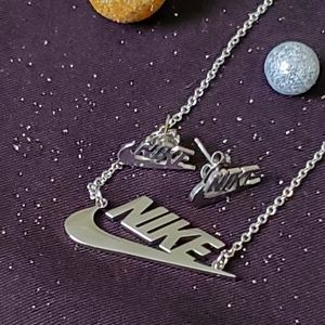 Nike necklace and earrings bundle deal!